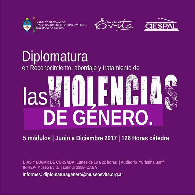 Diplomatura en Reconocimiento, abordaje y tratamiento de las violencias de género