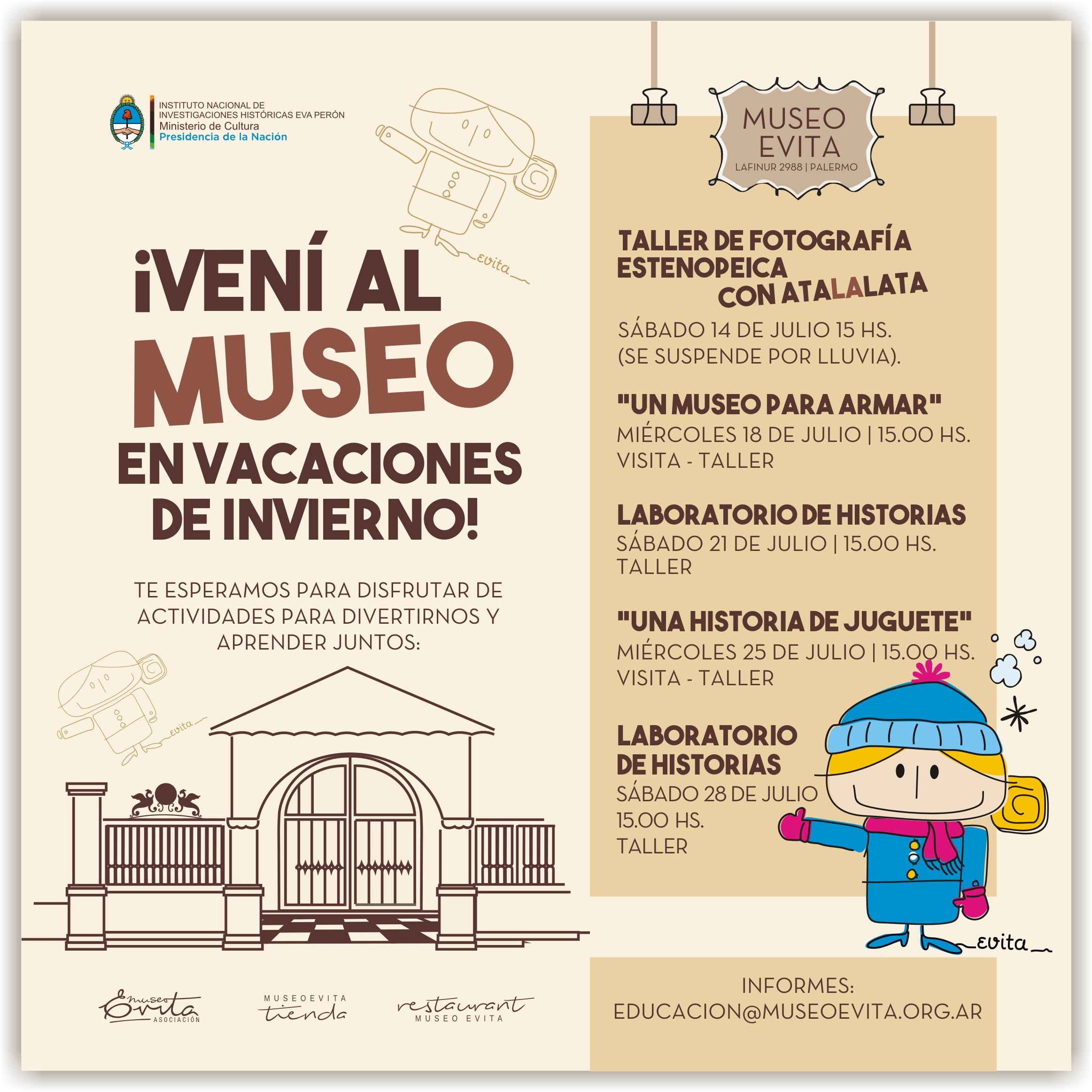 ¡Vení al Museo en vacaciones de invierno!