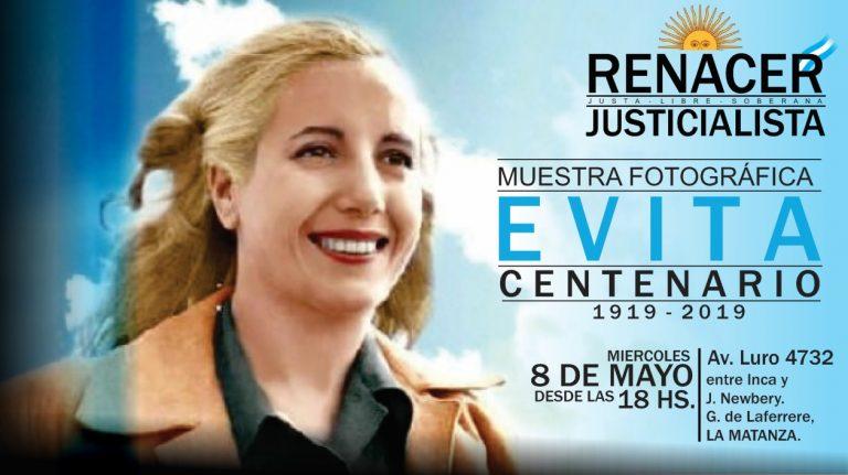 """Muestra Fotográfica """"EVITA, Centenario"""" – Renacer Justicialista."""
