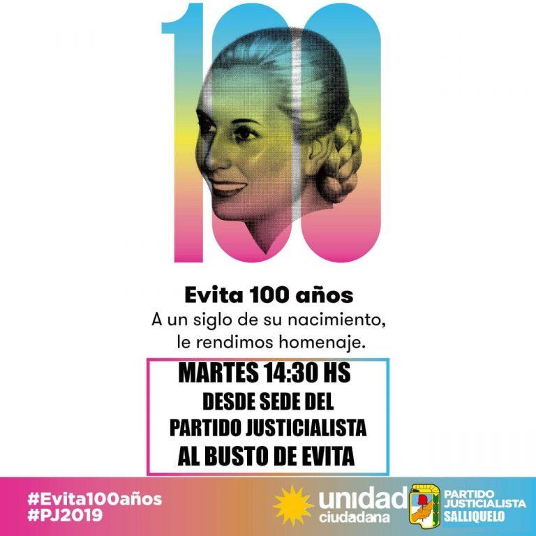 Homenaje a Evita en Salliquelo