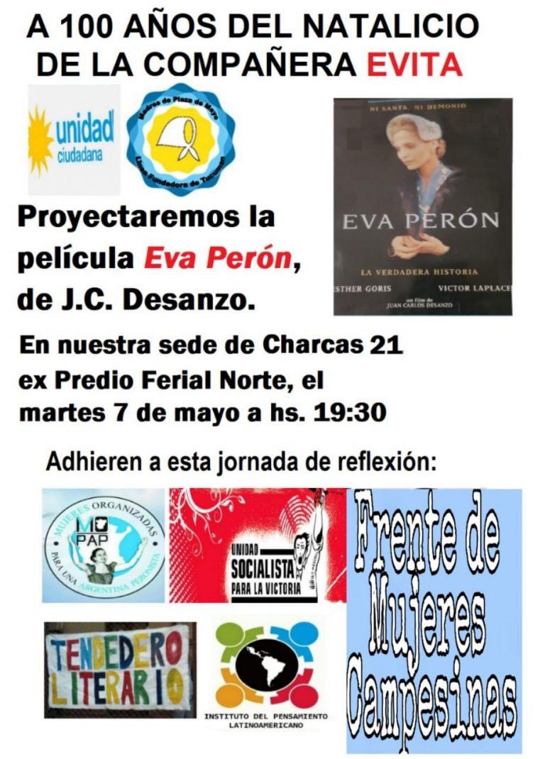 Madres de Plaza de Mayo Tucumán homenajea a Evita