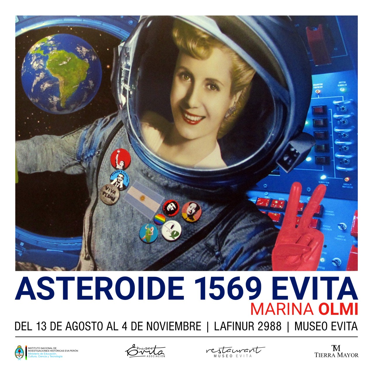 Continúa Asteroide 1569. Evita. Marina Olmi.